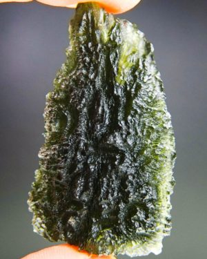 quality a+++ large investment moldavite from south bohemia with certificate of authenticity (26.61grams) 1