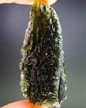 quality a+++ large investment moldavite from south bohemia with certificate of authenticity (26.61grams) 2