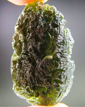 quality a+++ large natural piece moldavite with certificate of authenticity (17.93grams) 2