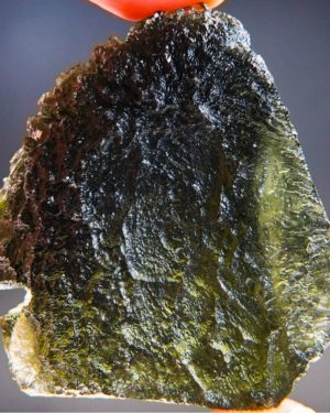 quality a+ open bubble large moldavite with certificate of authenticity (32.07grams) 1