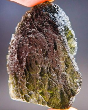 quality a+ open bubble large moldavite with certificate of authenticity (32.07grams) 2
