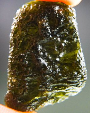 quality a+ shiny brown green moldavite with certificate of authenticity (7.39grams) 1