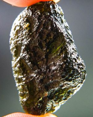 quality a+ shiny brown green moldavite with certificate of authenticity (7.39grams) 2