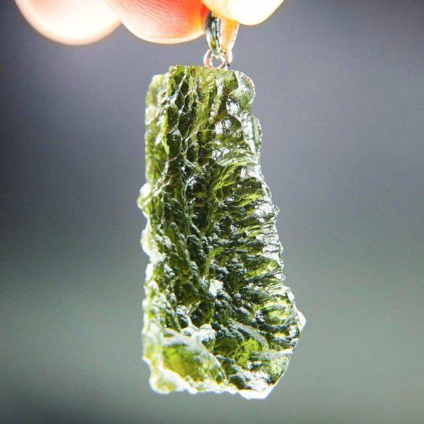 quality a+++ shiny elegant shape moldavite pendant from chlum (7.14grams) 2