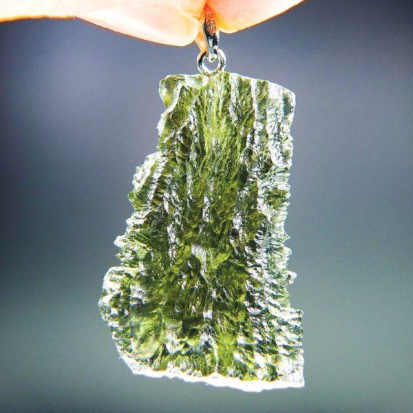 quality a+++ shiny elegant shape moldavite pendant from chlum (7.14grams) 4