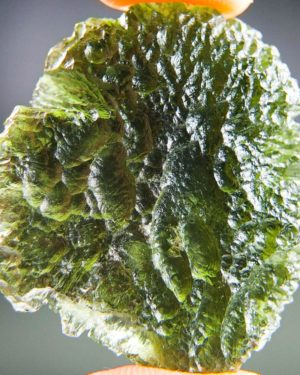 quality a+ shiny large moldavite with certificate of authenticity (13.34grams) 1