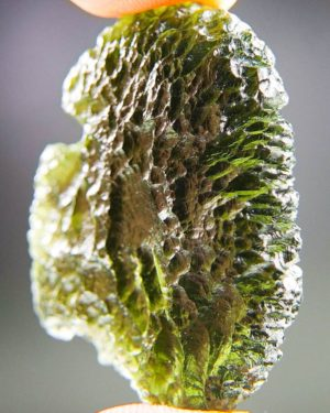 quality a+ shiny large moldavite with certificate of authenticity (13.34grams) 2