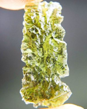 quality a++ shiny yellow green moldavite from besednice with certificate of authenticity (3.09grams) 1
