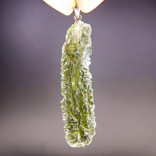 quality a+ stick rare shape moldavite pendant (6.08grams) 4