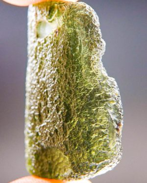 rare drilled moldavite pendant with certificate of authenticity (7.91grams) 2