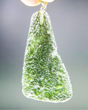 shiny drop shape 1.7 long moldavite pendant with certificate of authenticity (10.66grams) 2