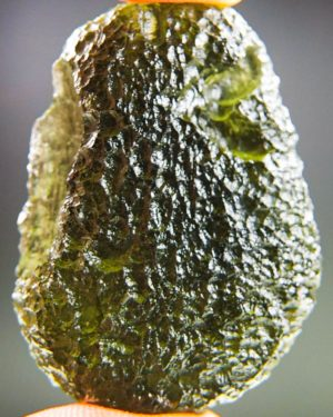 shiny large moldavite from chlum with certificate of authenticity (15.92grams) 1