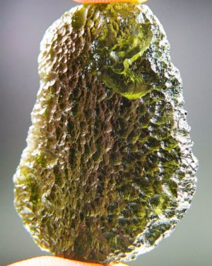 shiny large moldavite from chlum with certificate of authenticity (15.92grams) 2