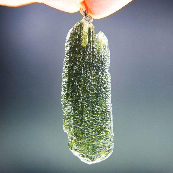 shiny moldavite from chlum pendant (5.59grams) 1