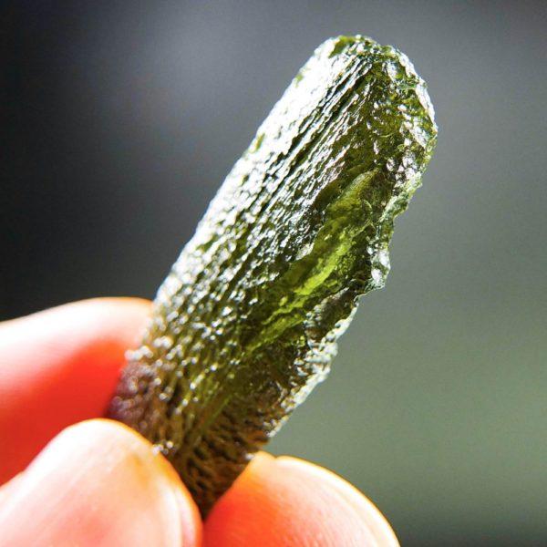shiny moldavite from chlum pendant (5.59grams) 5