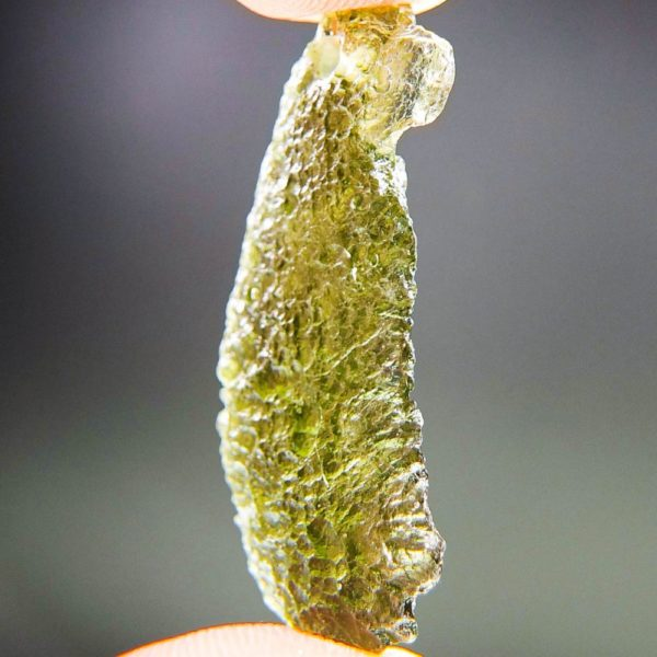 shiny olive green drilled moldavite pendant with certificate of authenticity (3.77grams) 2