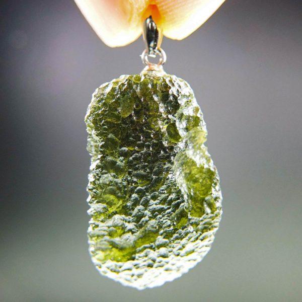 unique shape moldavite pendant (5.25grams) 1