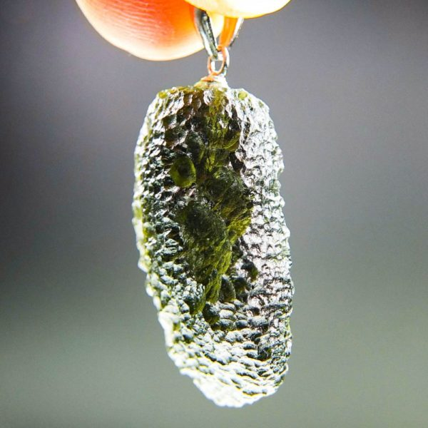 unique shape moldavite pendant (5.25grams) 2