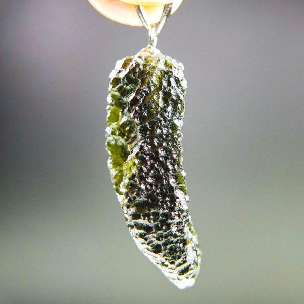 unique shape moldavite pendant (5.25grams) 3