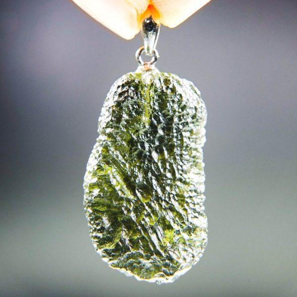 unique shape moldavite pendant (5.25grams) 4