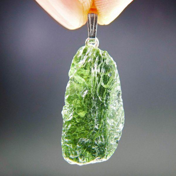 vibrant green moldavite from chlum pendant (4.54grams) 1